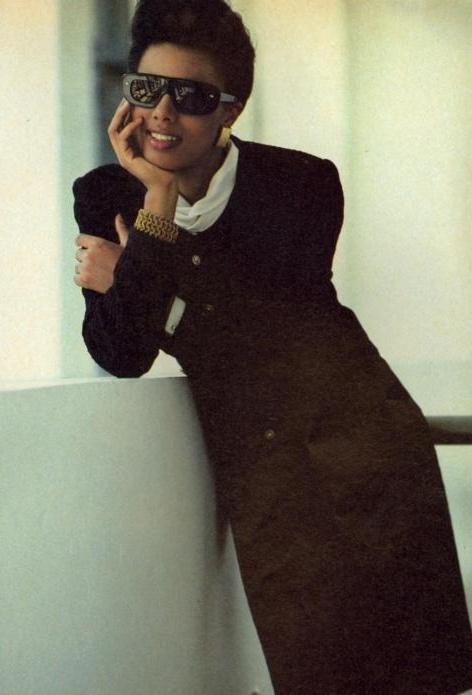 """Sure Things"", Vogue US, September 1983 Photographer : Brigitte Lacombe Model : Wanakee Pugh"