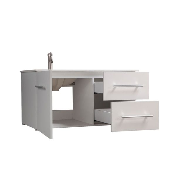 MTD Vanities Nepal Painted White Wood/Oak/Ceramic 41-inch ...