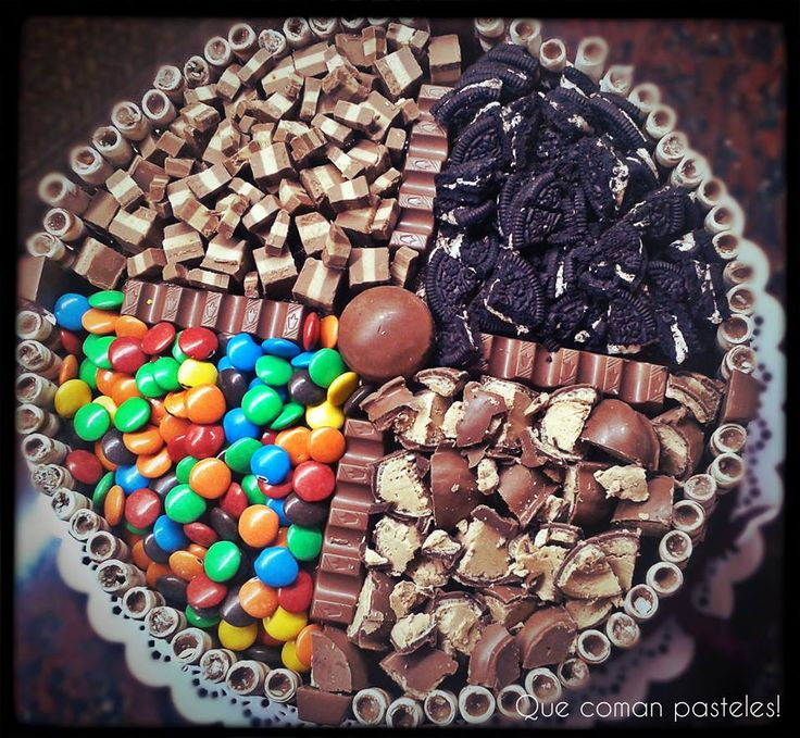 Torta Mix! - Chocolate + Dulce de Leche + Bon o Bon + Rocklets + Oreo + Marroc + Cubanitos + Barritas Kinder