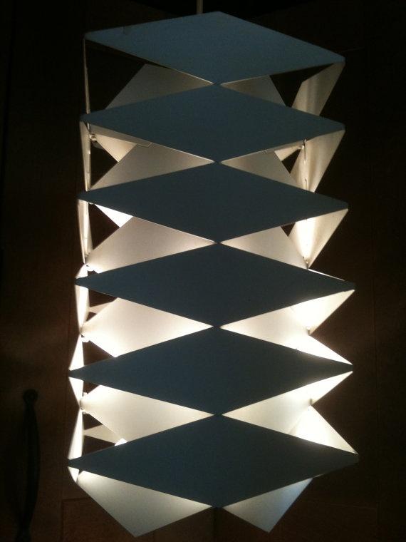 Danish Modern Simon Henningsen Origami Pendant Lamp by dancie720, $400.00