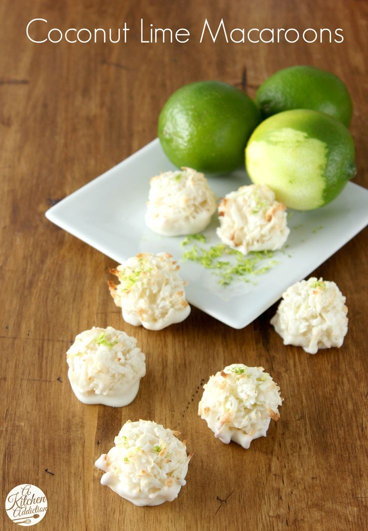Coconut Lime Macaroons l www.a-kitchen-addiction.com