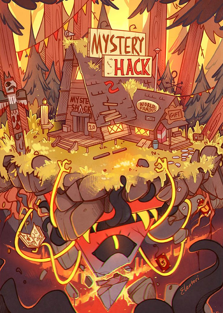 My finished piece for the gravity falls zine since we're allowed to post now!