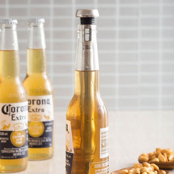 Keep your beer cold while you drink with a Corkcicle Chillsner Beer Bottle Chilling Stick. Just freeze and then drop it in your bottle when it's ready. The Chillsner drink through feature lets you sip your beer.