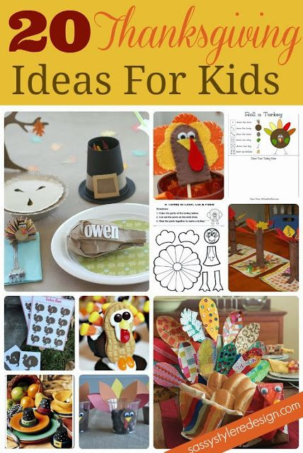 20 Thankgiving ideas for kids!