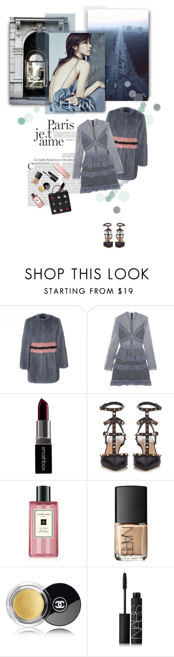 """""""Lost in the Moment"""" by anny-bcc ❤ liked on Polyvore featuring Paul Frank, self-portrait, Smashbox, Valentino, Disney, Jo Malone, NARS Cosmetics, Chanel and yooinna"""