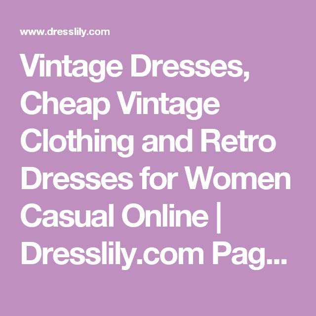 Vintage Dresses, Cheap Vintage Clothing and Retro Dresses for Women Casual Online | Dresslily.com Page 6