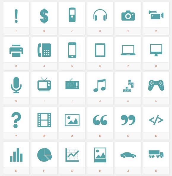 10 Super Useful FREE Icon Font Sets: Batch; Sosa; Metro UI; Iconic; Elusive; Entypo; Ligature; Typicons; Maki; Font Awesome;