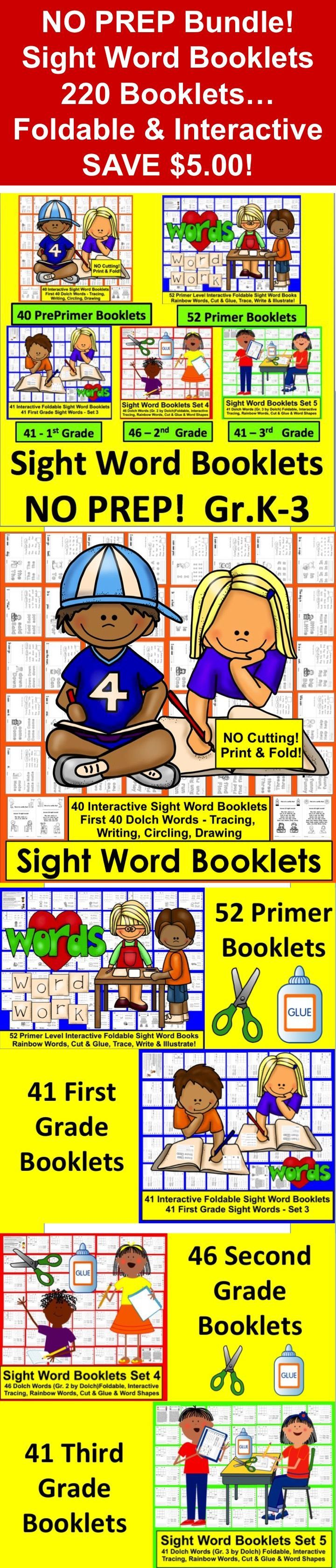 Worksheet Dolch List 5 1000 ideas about dolch sight word list on pinterest 220 individual words booklets no prep all levels of list