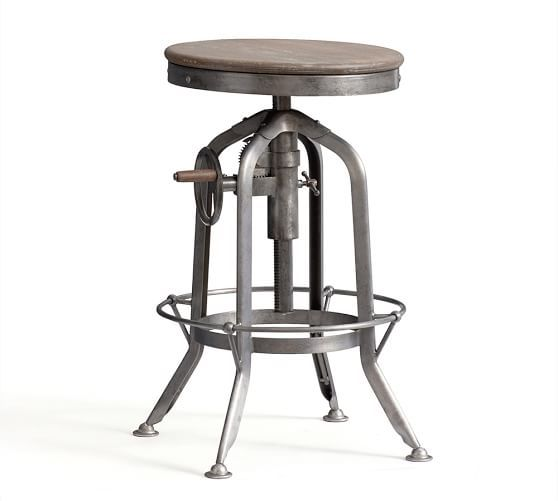Pittsburgh Adjustable Height Bar Stool In 2020 Bar