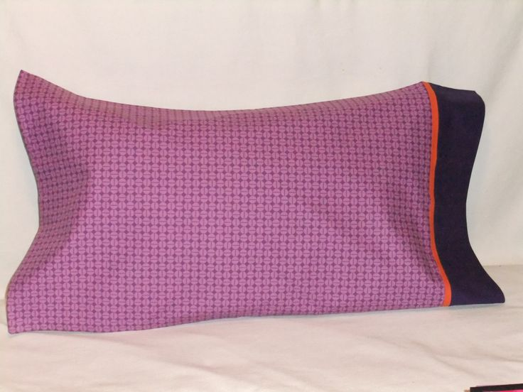"""POLKA DOTS in Purple PILLOWCASE - 20"""" x 35"""" by KatiesCOVERS on Etsy"""