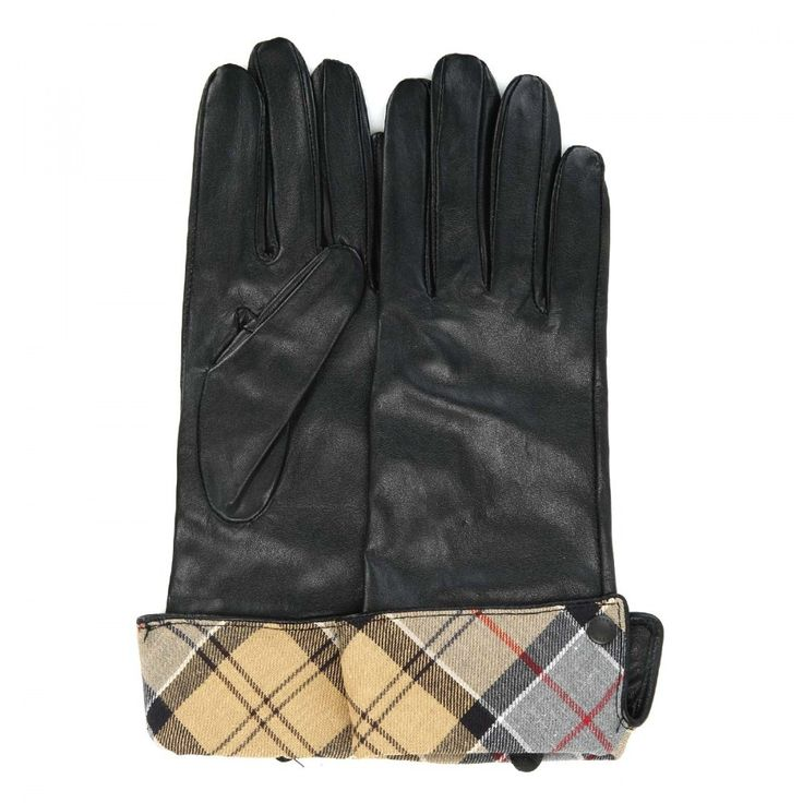 Barbour Womens Lady Jane Black Leather Gloves