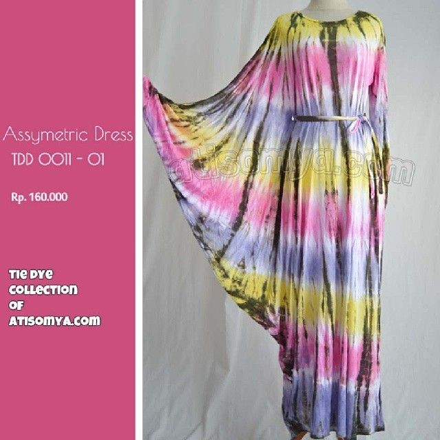 Baju Pelangi Umbrella Dress Kualitas Terbaik: Baju Pelangi Best Seller 2013. Tie Dye Collection http://atisomya.com. Asymetric dress Materia...