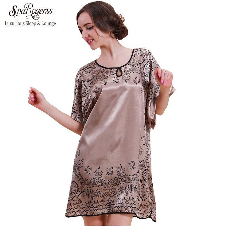 SpaRogerss Top Fashion Sommer Stil Bad Robe 2017 Nachtwäsche Für Frauen Lounge Mutter Plus Beiläufige Kleid Nachthemd 10107