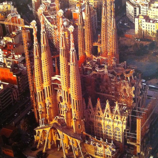 La Sagrada Família - Barcelona, Spain.  This is so cool and amazing, inside and out.