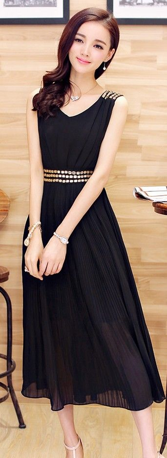 Maxi Chiffon Dress Diamond Shoulder and Waist YRB0050