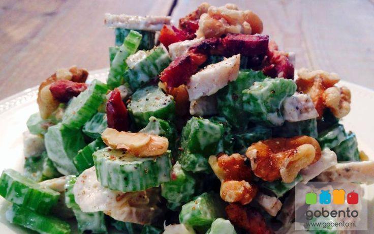 lunch: Bleekselderij kip salade