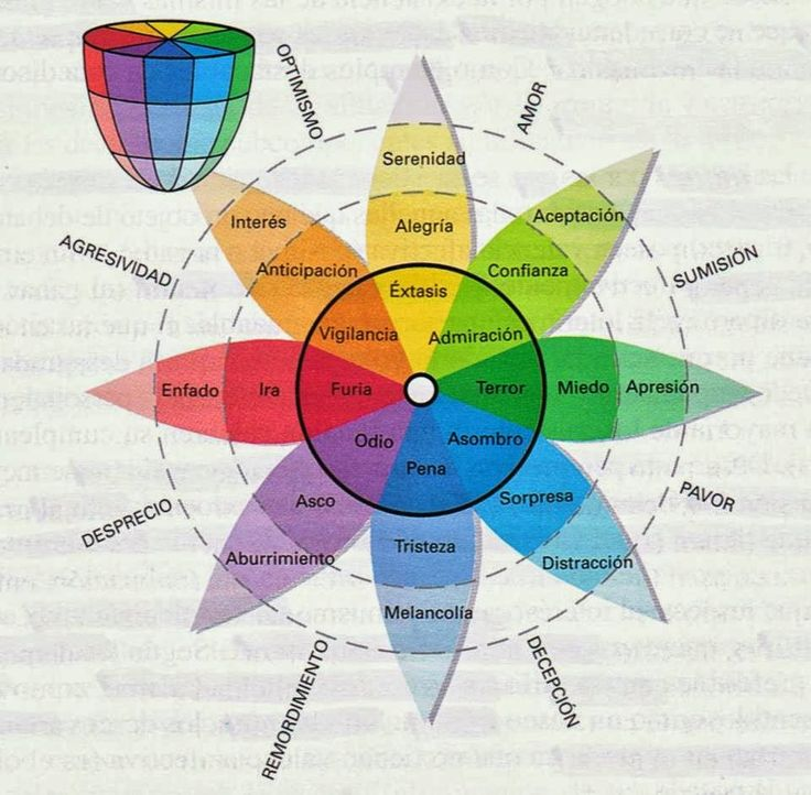 Como se distribuyen las #emociones. Buen esquema. #Psicologia