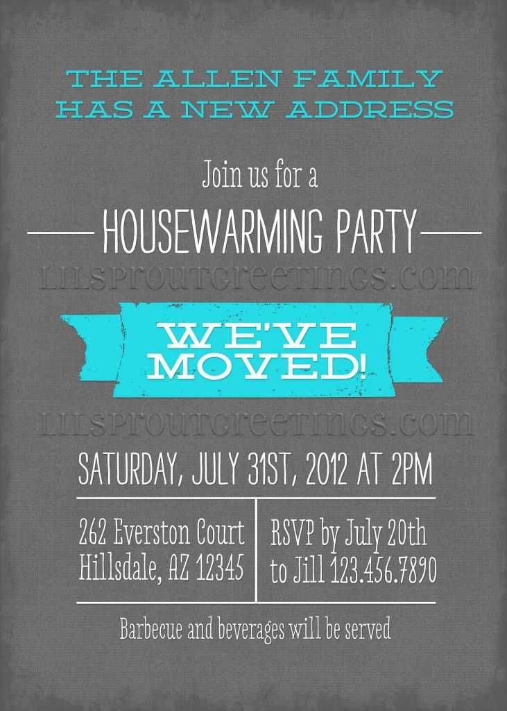 Housewarming Invitation Bulletin 731x1024 Modern Invitations New Designs
