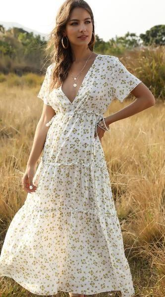pcs Cotton Blends Green X-line Dress White Black Day Dresses Casual Spring XS Midi Summer Floral V-Neckline S M Short Sleeve L Dress Vestido Maxi Floral, Vestido Casual, Dress Casual, Dress Vestidos, Mini Vestidos, Maxi Dresses, Slip Dresses, Floral Dresses, Party Dresses