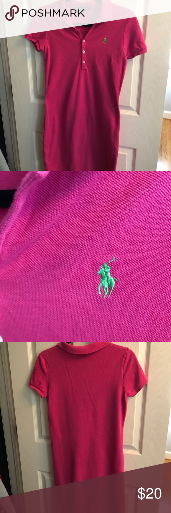 Polo shirt dress size Small Hot pink polo shirt dress size Small. Hardly worn! Polo by Ralph Lauren Dresses