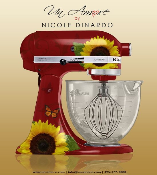 kitchen aid decals | … Concepts VS. Completion of Custom Hand-Painted KitchenAid Mixers