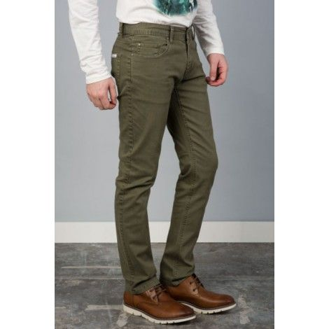 Pantalon denim verde Sixvalves