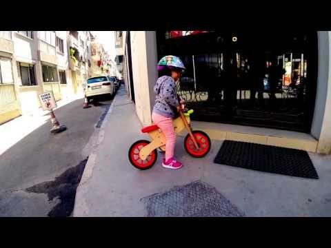 denge bisikleti ile kaldırımlar bizim - YouTube