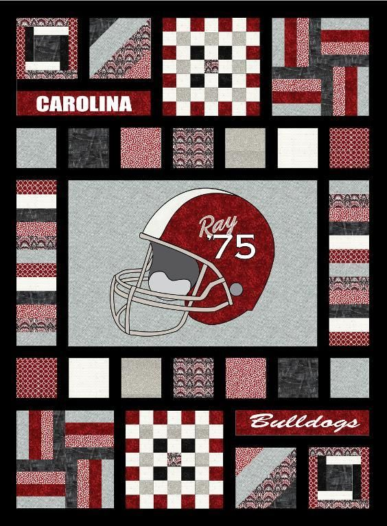 NEW! Team Spirit v.2 quilt pattern on Craftsy. With full-size patterns, full color layout & detailed list of suggested fabrics. Make the perfect quilt for your favorite school or sports team!
