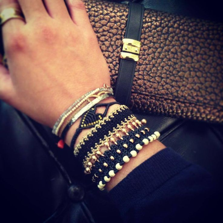 Antonia Karra 'Thalia' + 'Geo Tiny' bracelets & Zoe Kompitsi heart bracelet! Marc Cain leather wallet