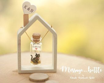 Handmade wood House floating frame/floating Swing,Frame your message,Tiny messag... - Hochzeitsgeschenk