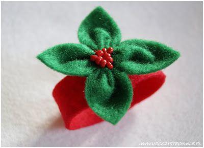 Świąteczny serwetnik z filcu...