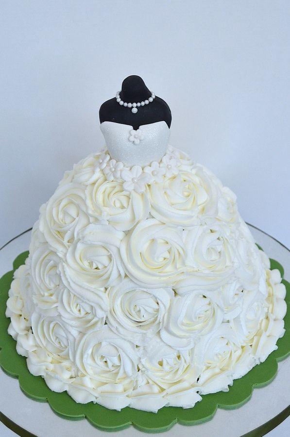 Bridal Shower Cake- Ladies, please practice ur cake decorating! :D lol jk! But it is a pretty skirt!