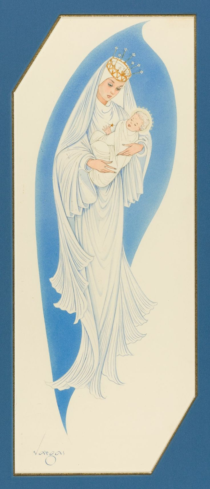 13 best christmas religious images on pinterest christmas alberto vargas american madonna and child american greeting cards company christmas card illustration c kristyandbryce Choice Image