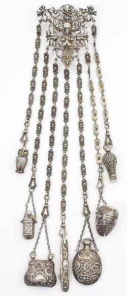 Silver William Comyns Chatelaine 1895 To Shine like a Goddess Keka❤❤❤