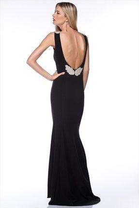 Milla by trendyol - Gece Koleksiyonu - Siyah Elbise MLWAW153867 sadece 199,99TL ile Trendyol da