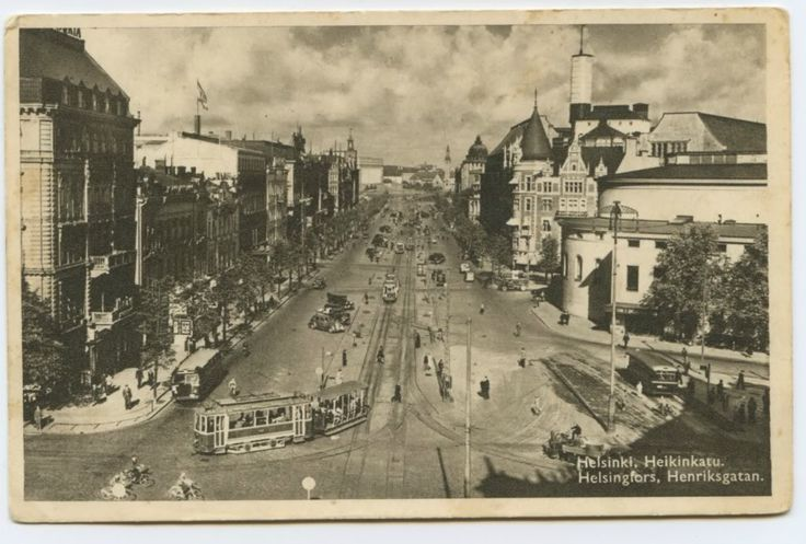Postcard Helsinki, Finland 1940s