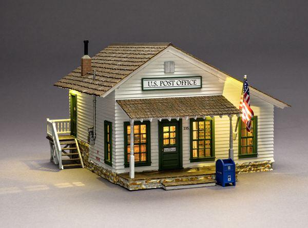 Woodland Scenics HO Scale Built-Up Building//Structure Letters Parcel Post Office