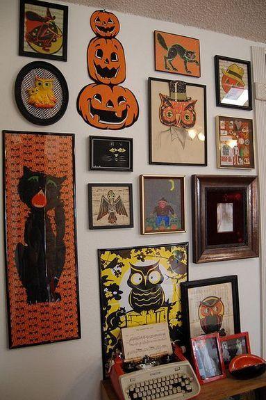 40+ Vintage Halloween Decor with Toys Ornaments Ideas