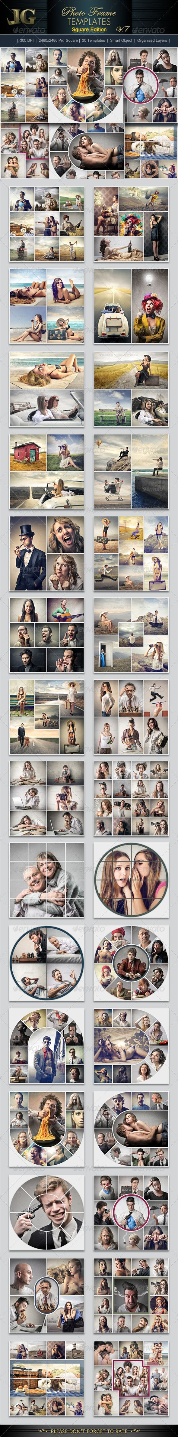 Photo Frame Templates V7 Square #design Download: http://graphicriver.net/item/photo-frame-templates-v7-square/7137367?ref=ksioks