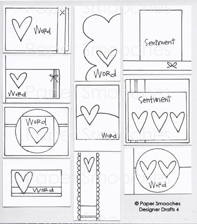 Paper Smooches: Designer Drafts 4