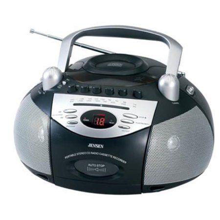 Jensen CD-545 Stereo CD Cassette Recorder With AM-FM Radio