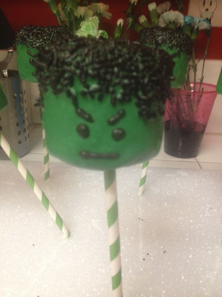 Incredible Hulk Marshmallow Pop Frankie S 6th Birthday