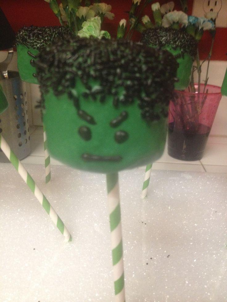 Incredible Hulk Marshmallow Pop