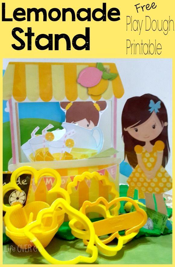 Free Lemonade Stand Printable for Play Dough