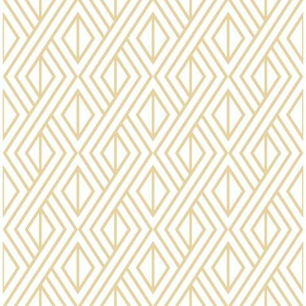 Nextwall Gold Diamond Geometric Vinyl Peelable Wallpaper Covers 30 75 Sq Ft Nw30105 The Home Depot Peel And Stick Wallpaper Geometric Wallpaper Wallpaper Roll