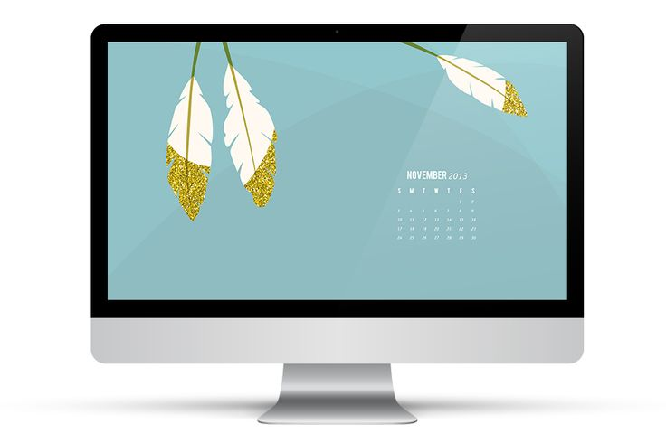 November 2013 Calendar: Free Desktop Wallpaper by Sarah Hearts