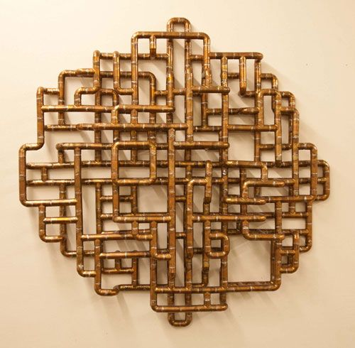 Brooklyn-based artist/designer TJ Volonis makes the most amazing sculptures and furniture out of copper tubing.