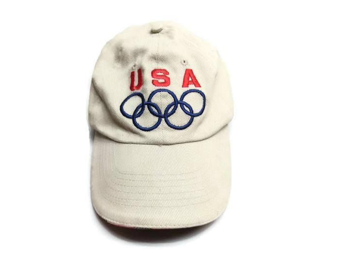 Mat Hat US Olympic Baseball Cap  Beige One Size Adjustible Unisex Olympic Rings #MatHat #BaseballCap