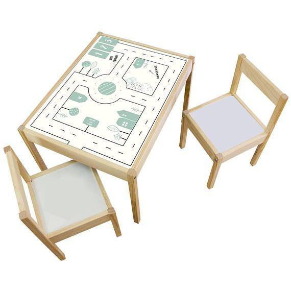 Autocollants Enfants Table Table De Jeu Ikea Latt Alternative A La Moquette Jeu Tapis Play Mat Route Voiture Meubles Non Inclus Kid Room Decor Baby Play Table Baby Play Areas