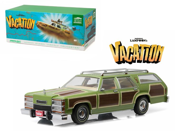 "1979 Family Truckster Wagon Queen ""National Lampoon's Vacation"" (1983 ) Movie 1/18 Diecast Model Car by Greenlight - Brand new 1:18 scale diecast car model of 1979 Family Truckster Wagon Queen ""National Lampoon's Vacation"" (1983) Movie die cast car model by Greenlight. Customized, movie themed packaging. Serialized chassis. Brand new box. Rubber tires. Made of diecast metal. Detailed exterior. This model does not have any openings. Dimensions approximately L-10.5, W-4.5, H-3.5…"